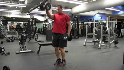 Picture of reverse grip alternating front shoulder raises for rotator cuff injury on coach cola workout routine